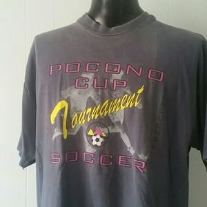 Other - ⬇️ Faded Soccer Tshirt Tee Pocono Cup Tournament